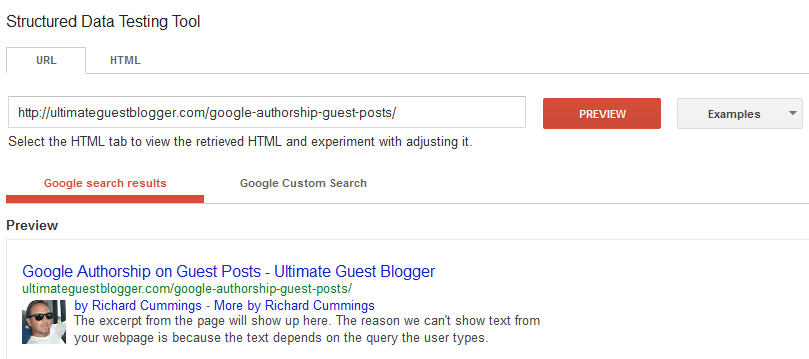 Google Authorship Verification